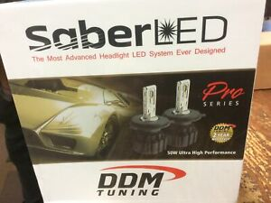 Ddm Tuning Saber Led Pro Series Headlight 9005/9006/h10/9012 Led Bulbs 50w Pr Wh