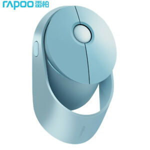 Rapoo Ralemo Air1 Wireless Mouse Rechargeable Mouse Bluetooth Mute Portable Blue