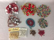 Vintage Mercury Glass Bead Christmas Garland Lot Assorted Plus Loose Beads