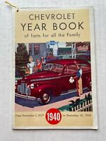 1940 Chevrolet Fact Year Book w/ Almanac and Car Pictures