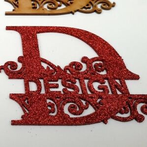 Monogram Letters Personalised , Craft Color Acrylic  Glitter Painted