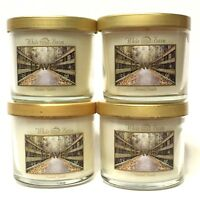 LOT 4 BATH & BODY WORKS LEAVES WHITE BARN 4 OZ SCENTED FILLED MEDIUM CANDLE NEW