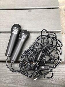 2 Logitech Disney Interactive Studios USB Microphone PS2 PS3 XBOX 360 Wii PC