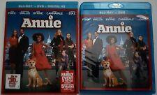 ANNIE (2014) BLU RAY + DVD 2 DISC SET WITH SLIPCOVER SLEEVE FREE WORLDWIDE SHIPP