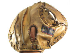 Spalding Vtg Catchers Glove Baseball Mitt 42-7231 Form Pocket Usa Rht Leather 33