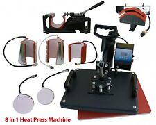 USA Fast 8 In1 Heat Press Machine T-shirt Mug Hat Plate Cap Transfer Sublimation