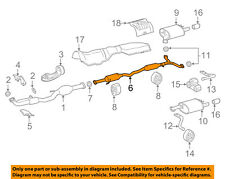 TOYOTA OEM 2018 Camry 3.5L-V6 Exhaust-Intermed Pipe 174200P330