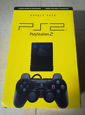 Sony PS2 PlayStation 2 Double Pack - Dualshock 2 Controller & Memory Card Boxed