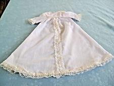 "Doll Christening 20"" Long Gown & 6"" Shoulder to Shoulder With Inner Slip"