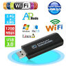 Dual Band 2.4/5Ghz 1200Mbps Wireless WiFi Network USB Adapter Antenna 802 WH