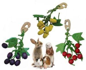 Chew Nibbler Hanging Wood Loofah Edible Treat Hamster Gerbil Rabbit Guinea Pig