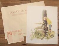 21.5x27 Ltd Ed SIGNED, NUMBERED print A CLOSER LOOK, CAROLYN BLISH w/ COA folder