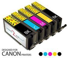 Set of 5 Refillable Edible Ink Cartridges Canon MX922 PGI-250 / CLI-251 Series