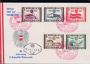 1955 Ersttagskarte mit Sonderstempel Wiederherstellung der Unabhängigkeit