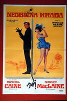 GAMBIT MICHAEL CAINE SHIRLEY MACLAINE 1966 RARE EXYU MOVIE POSTER