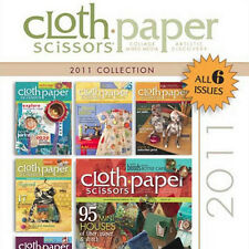 6 Issues on CD: CLOTH PAPER SCISSORS MAGAZINE 2011 Mixed Media Mosaics Collage