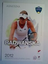 AGNIESZKA RADWANSKA 5X7 WESTERN & SOUTHERN TOURNAMENT PLAYER COLLECTOR CARD ATP