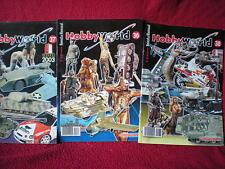 Lote 3 revistas HOBBYWORLD Modelismo pintura de miniaturas dioramas