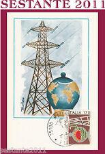 ITALIA MAXIMUM MAXI CARD 1980 RIDUZIONE DEI CONSUMI ENERGETICI TRALICCIO (270)