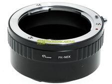 Adapter x montare ottiche Pentax K su corpi Sony E Mount Nex-Alpha. NEX.