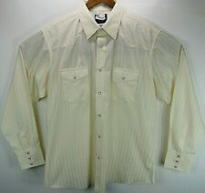 Vintage WRANGLER Western Shirt Mens XL long sleeve pearl snap Dry Cleaned