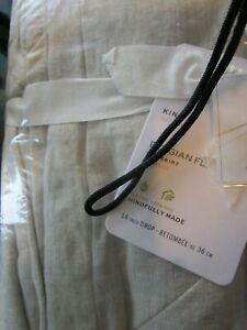 Pottery Barn Belgian Linen Bedskirt King white 14' drop New wo tag