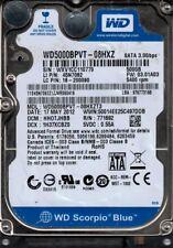 WD5000BPVT-08HXZT3 DCM: HHOTJHBB WXV1C Western Digital 500GB