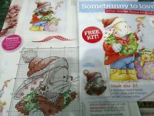 CROSS STITCH COVER KIT SOMEBUNNY TO LOVE KIT MAGAZINE COVER KIT