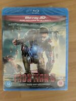 Iron Man 3 (3D Blu-ray, 2013, 2-Disc Set, Box Set) NEW