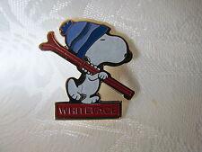 WHITEFACE Vintage 80's Snoopy Lapel Hat Pin Ski Resort Snow Sports SP001