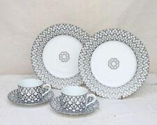 HERMES Porcelain Cup Saucer Plate set Fil d'Argent Tableware Ornament Auth Rare