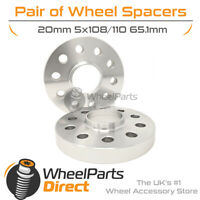 Wheel Spacers (2) 5x108/110 65.1 20mm for Volvo S60 [Mk1] 00-09