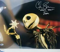 Chris Sarandon signed Jack Skellington 16x20 METALLIC photo BAS COA WA04758