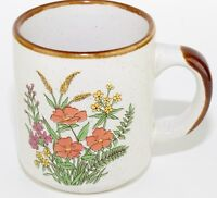 Orange Yellow Field Flowers Floral Coffee Mug Tea Cup