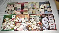 Cross Stitch EIGHT Fingertips Booklets Leisure Arts Studio Seven