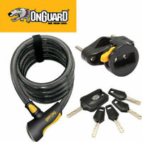 Onguard Bike Bicycle Lock Doberman Coil Key 185Cm X 15Mm