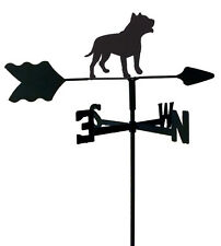 PIT BULL GARDEN STYLE WEATHERVANE BLACK WROUGHT IRON LOOK MADE IN USA TLS1062IN