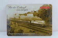 "Marklin Henschel-Wegmann Train Picture Metal Plate ( about 5 1/2"" X 4 "" )"