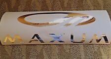 "MAXUM CHROME Boat Vinyl Decal Sticker 6""x20""  L@@K!  Ski Wakeboard Hydrofoil W@W"
