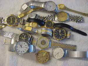 Lot of 12 + Vintage antique SEIKO TIMEX + others mens & lady watch watches