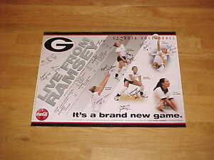 2001 Georgia Bulldogs Women's Volleyball Team Autographed Signed Poster