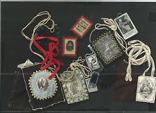 Lote de Escapularios antique  santino image pieuse estampa