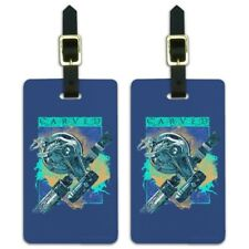 Carved Marlin Sailfish Fishing Reel Luggage ID Tags Carry-On Cards - Set of 2