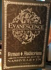 EVANESCENCE Ryman HATCH SHOW PRINT Nashville 2017 Tour Poster Orchestra Amy Lee