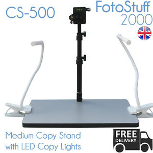 CS 500 Medium Copy Stand Rostrum with LED Lights 50 CM Height Quick Release