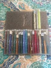 HUGE BEAD LOT ❤ VARIETY of 24 Tubes ❤ CRAFT AND SCRAPBOOKING ❤SEWING AND COSTUME