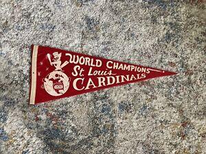 Rare - 1967 St Louis Cardinals World Champions Pennant .. Fair Condition