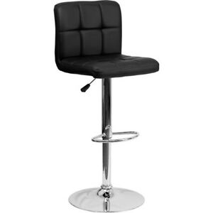 Flash Furniture Black Contemporary Barstool, Black - DS-810-MOD-BK-GG