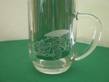 Personalised Freehand Engraved Pint Beer Glass Tankard Auto Vintage Car + Name