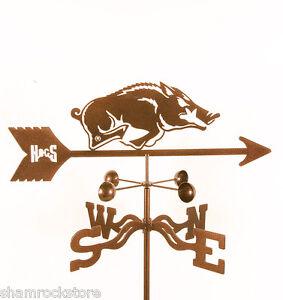 University of Arkansas Weathervane - Razorbacks Hogs - Vane with Choice of Mount